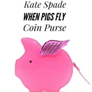 Kate Spade Flying Pig Imagination Coin Purse